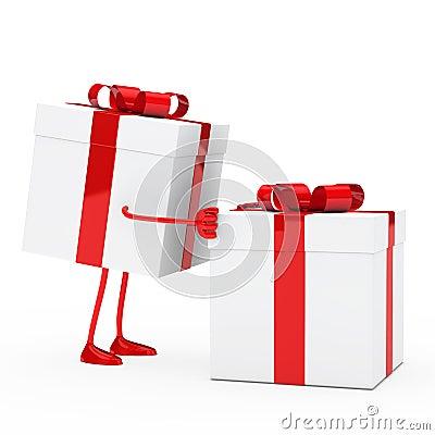 Figure push gift box