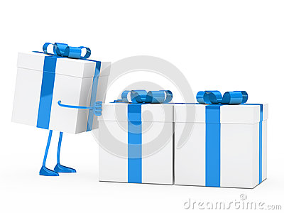 Figure push gift boxes