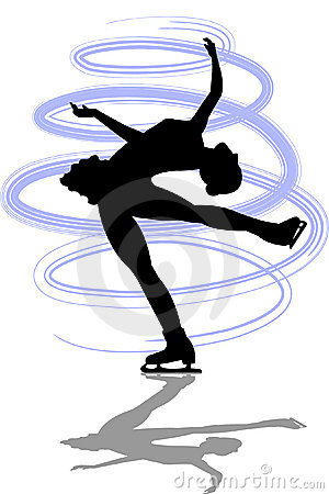 Figure Skater Layback Spin/ai