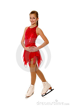 Figure Skater in Red