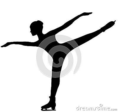 Free Figure Skater - Silhouette Royalty Free Stock Photo - 163235