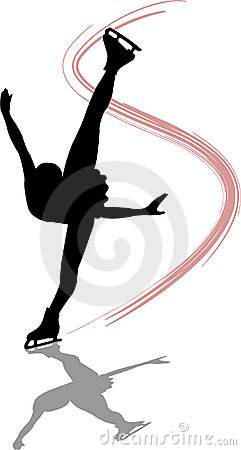 Free Figure Skater Spiral/ai Royalty Free Stock Image - 1444056