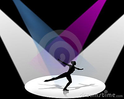 Figure Skater in Spotlight