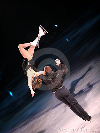 Figure skaters Editorial Stock Photo
