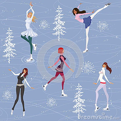 Figure skating background
