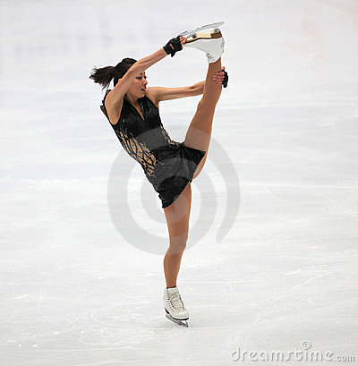 Figure Skating spin Editorial Image