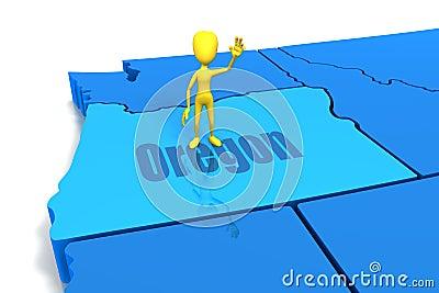 Figure Standing on Oregon