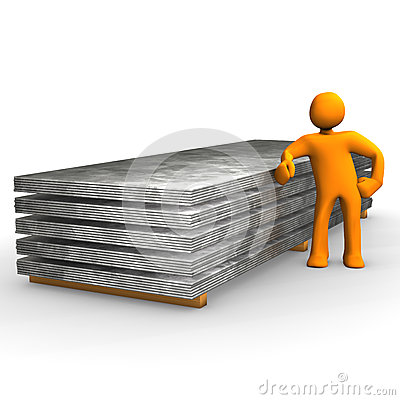 Figure with steel pallets