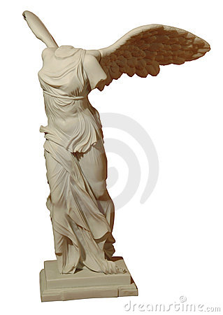 Figure of a woman with wings