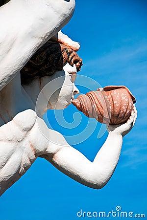The figurehead of the Galleon Neptune