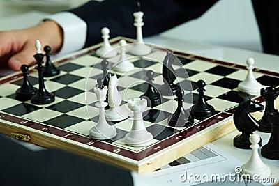 Figures on chessboard