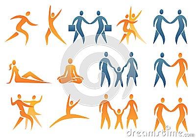 Figures mänskliga symbolssymboler