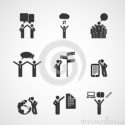 Figures, People s Icons - Business Concept Design