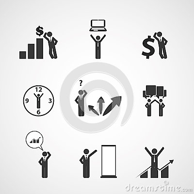 Free Figures, Peoples Icons - Business Concept Design Royalty Free Stock Photography - 40799777