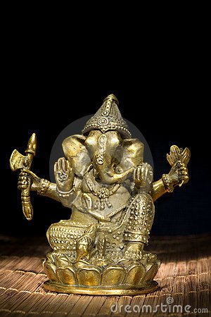 Figurine Idol of Lord Ganesh Blessing Everyone