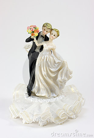 Figurine a newly-married couple