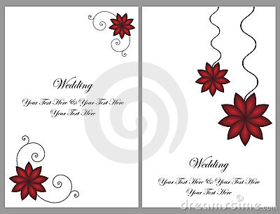 Free Wedding Invitation Cards On Home Royalty Stock Images Set