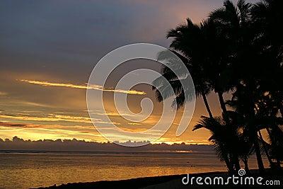 Fiji Sunset Horizontal