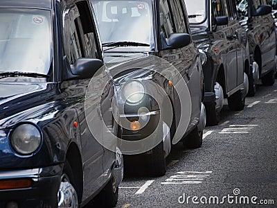 Fila de taxi de Londres