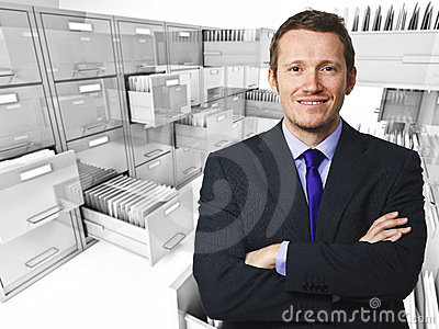 File cabinet 3d an man
