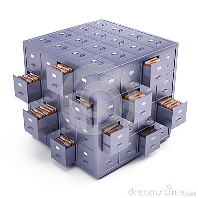 File cabinet cube Stock Photo