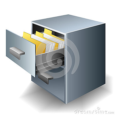 File cabinet Vector Illustration