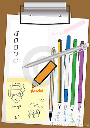 File Clip Board Paper Pen_eps