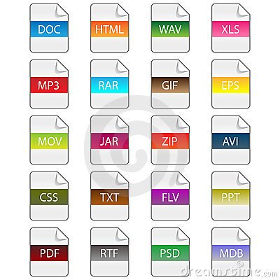 Free File Extension Icons Stock Images - 13899564