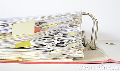 File folder close up