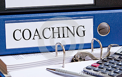 File folder marked coaching