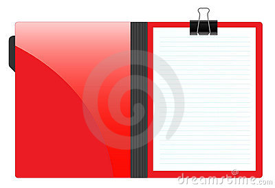 File folder with paper