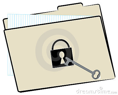 File folder with security