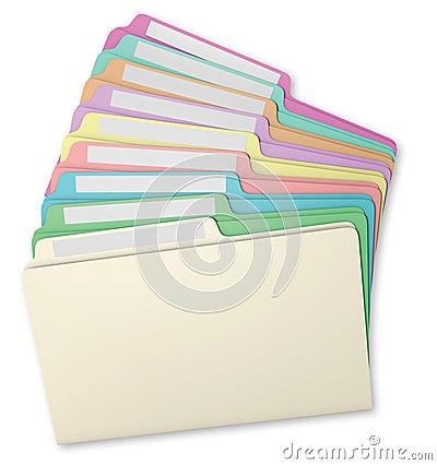 File Folders Fanned