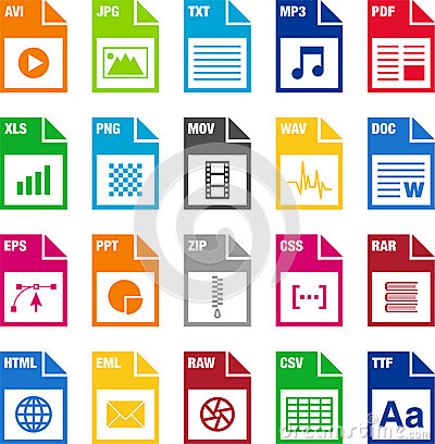 Free File Format Icons Royalty Free Stock Photo - 28568065