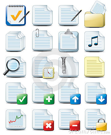 Free File Icons Royalty Free Stock Photo - 8549325