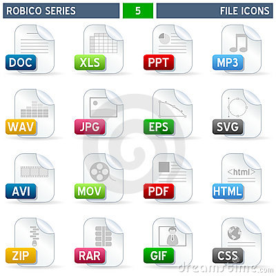 File Icons - Robico Series Editorial Image