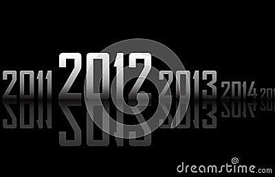 Fileira dos anos com reflexões (tema de 2012 anos)