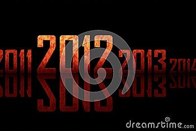 Fileira Textured dos anos (tema de 2012 anos)