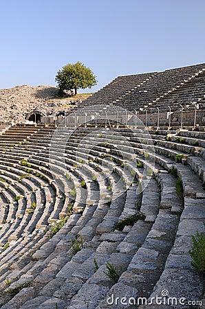 Fileiras do teatro antigo