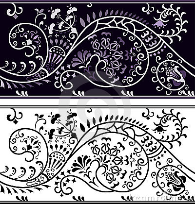 Filigree flower border