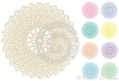 Filigree Lace Round Doily, 9 Pastel Colors