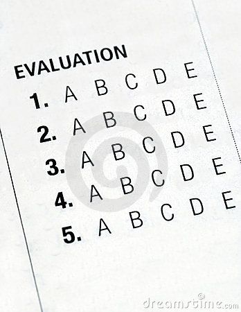 Filing the evaluation form