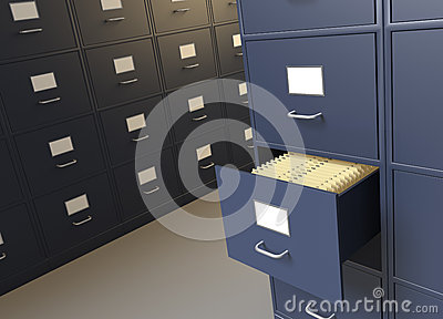 Filing room and cabinets for archives