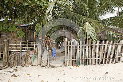 Philippines - Home on the Beach Editorial Stock Photo
