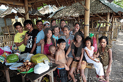 Philippines Extended Family Editorial Stock Image
