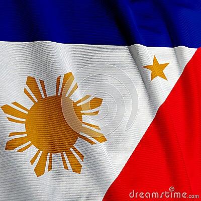 Filipino Flag Closeup