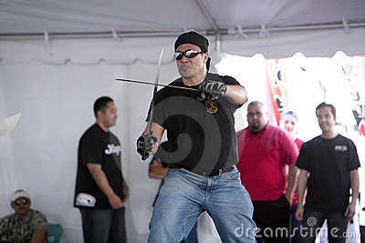 Filipino Martial Arts Demo Editorial Stock Image