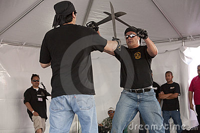 Filipino Martial Arts Demo Editorial Image