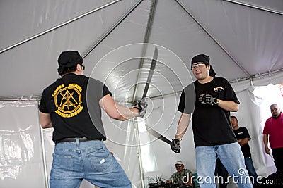 Filipino Martial Arts Demo Editorial Image