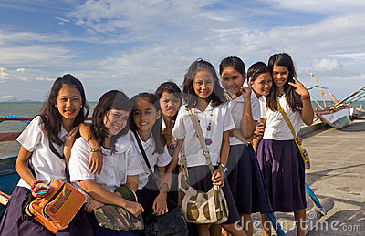 Filipino school girls Editorial Image